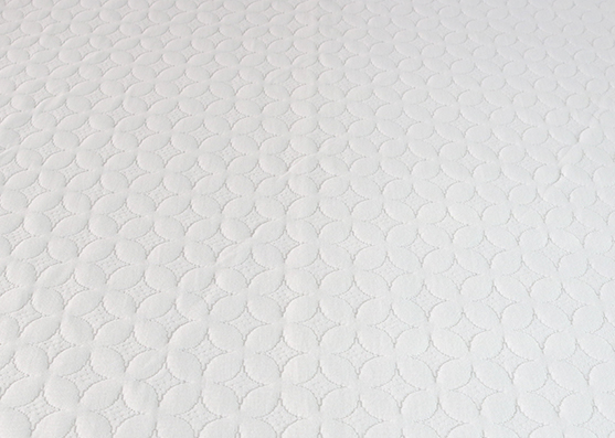 High Quality Polyester White Mattress Knitted Fabric