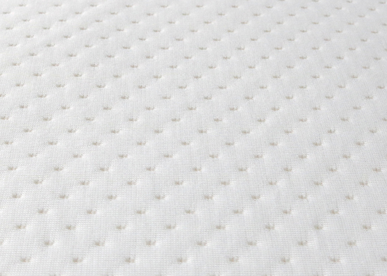 White Dot Polyester Jacquard Mattress Knitted Fabric