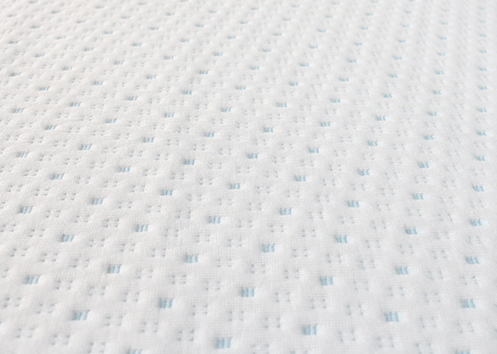 Good Quality Blue Dot Polyester Jacquard Mattress Knitted Fabric