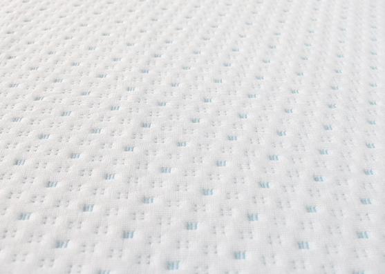Good Quality Blue Dot Polyester Jacquard Mattress Knitted Fabric