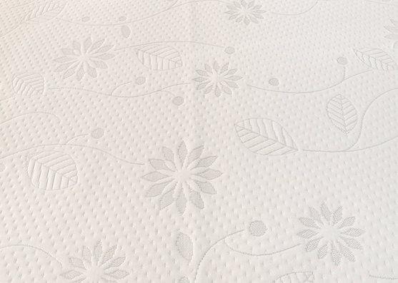 100% Polyester Small White Flower Mattress Cover Knitted Fabric For Home
