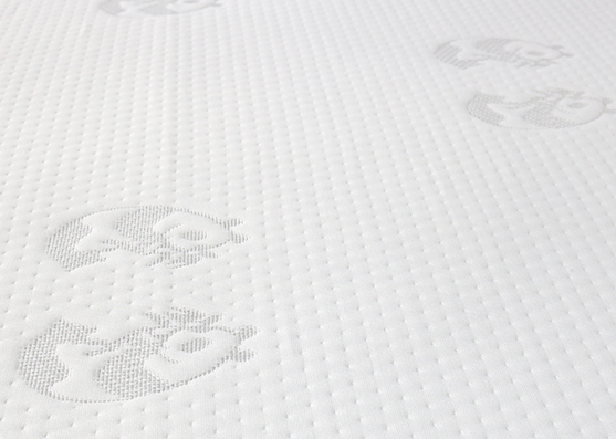 180gsm white color jacquard knitted mattress ticking fabric
