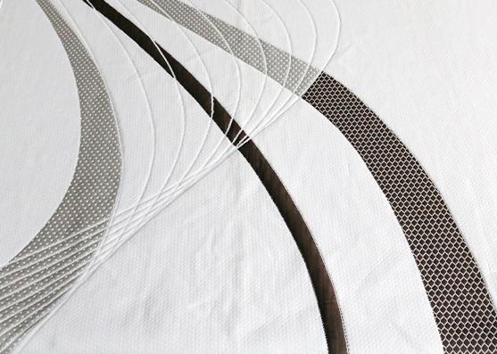 220cm width 100%polyester mattress ticking fabric