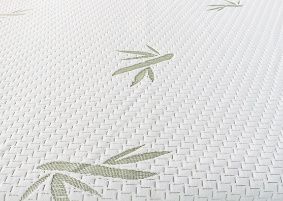 260gsm green color 100%Polyester jacquard knitted mattress ticking fabric