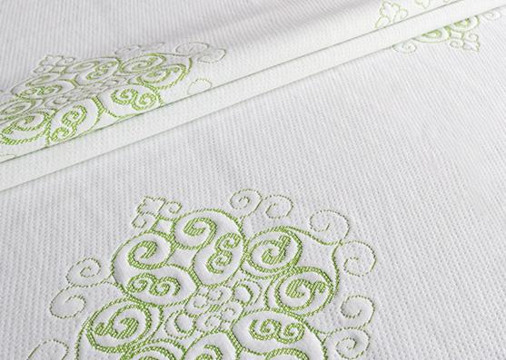 Attractive designs jacquard air mesh knitted mattress border fabric X-217
