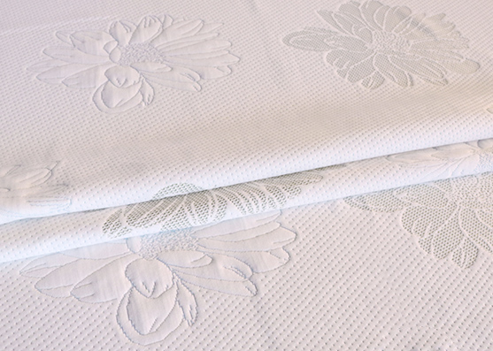 Mattress knitting 100% polyester jacquard flower fabric Chinese supplier  X-228