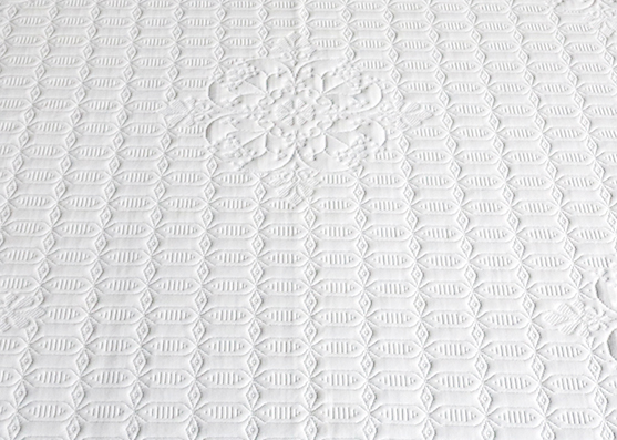 Environment friendly anti dustmite health knitted mattress fabric X-242