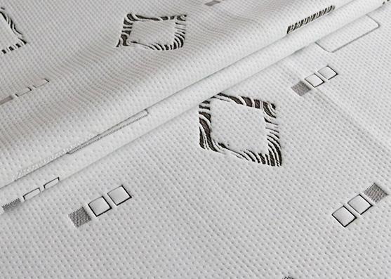 New Style Jacquard Spun Poly Mattress knitted Fabric X-275