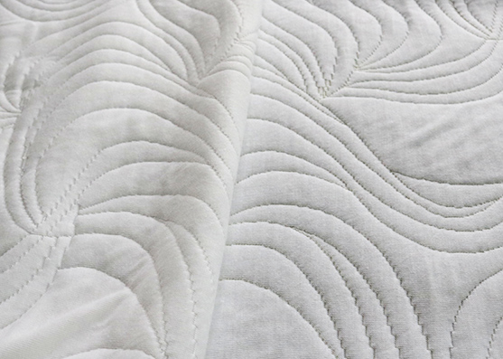 100%Polyester white color mattress knitted fabric
